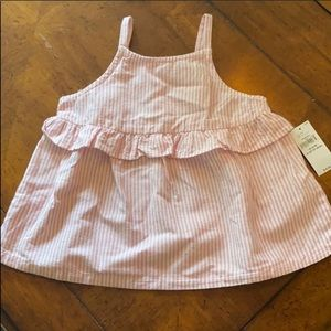Old Navy pink & white blouse tank NWT Size: 18-24M